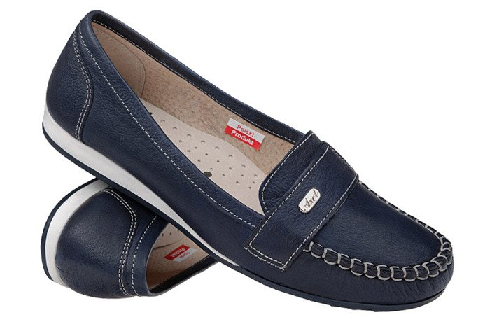 Mokasyny wsuwane buty AXEL Comfort 1513 Navy