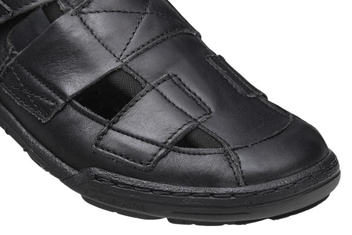 Półbuty Sandały KACPER 1-4213-253 Czarne
