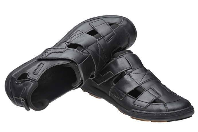 Półbuty Sandały KACPER 1-4213-253 Czarny
