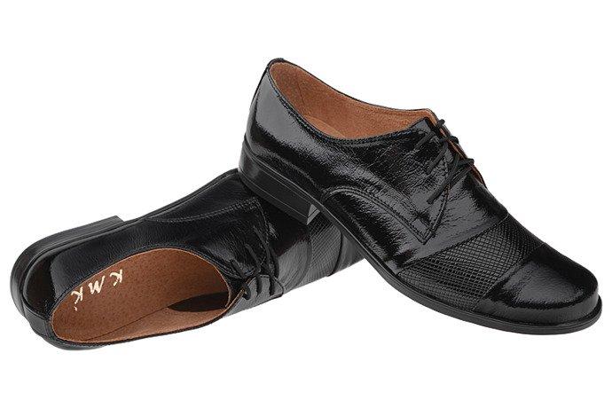 Półbuty komunijne wizytowe Lakierki buty KMK 156 Czarne