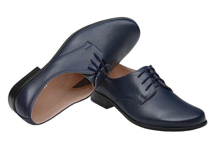 Półbuty komunijne wizytowe buty KMK 99 Granatowe Senna