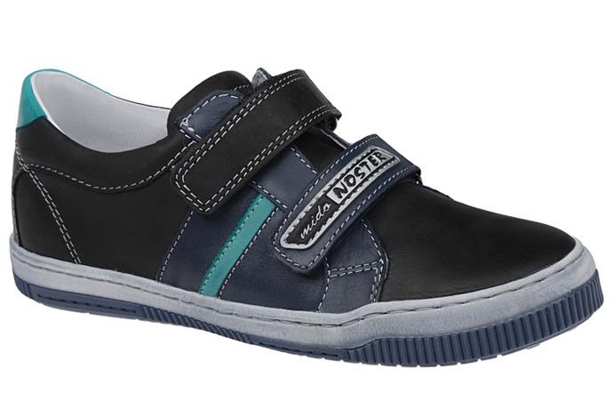 Półbuty na rzepy buty MIDO NOSTER 436 Czarne
