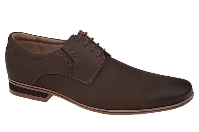 Półbuty wizytowe buty CONHPOL C-2552 Brązowe