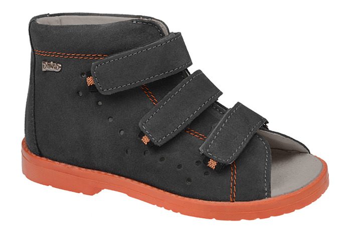 Sandałki Profilaktyczne Ortopedyczne Buty DAWID 1042 Szary SZ W17
