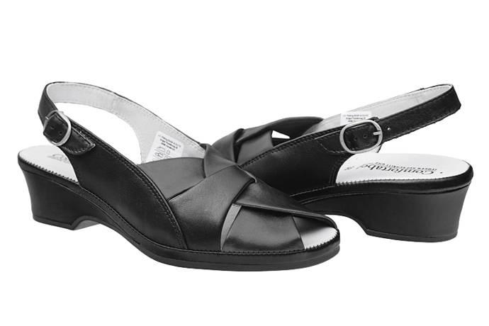 Sandały COMFORTABEL 710706-1 Czarne Tęgość H