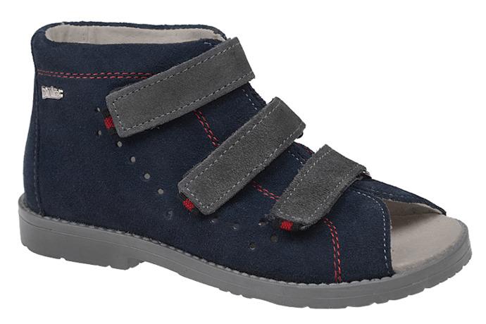 Sandały Profilaktyczne Ortopedyczne Buty DAWID 1043 Granat G