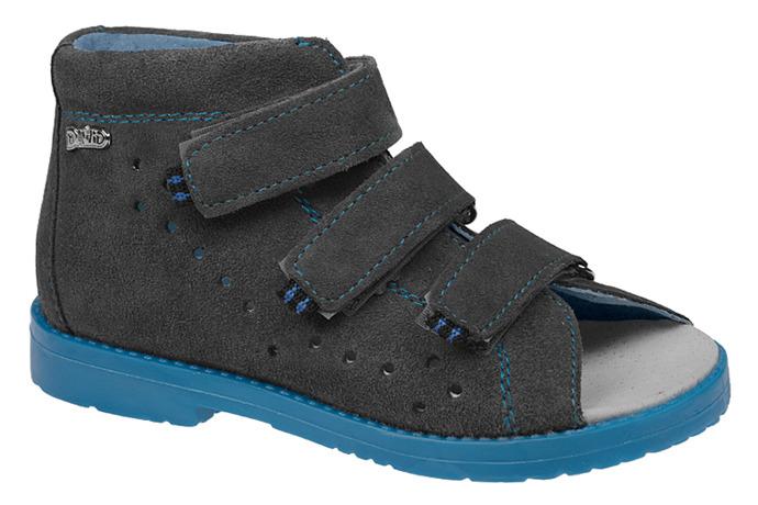 Sandały Profilaktyczne Ortopedyczne DAWID 1043 Szary SZN JPN
