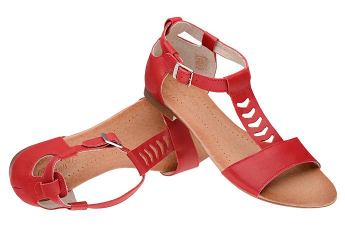Sandały damskie VERONII 5223 Czerwone
