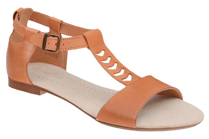 Sandały damskie VERONII 5223 Rudy-Brąz