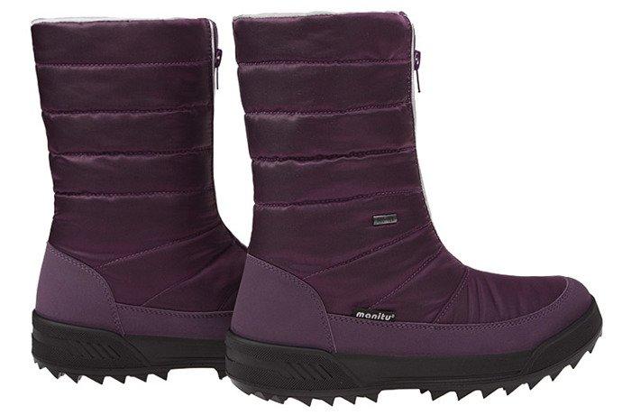 Śniegowce MANITU 990854-59 Śliwkowe Polar-Tex
