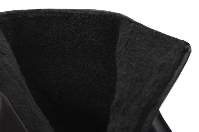 Trzewiki Kozaki BADURA 5263-698 Czarne ocieplane