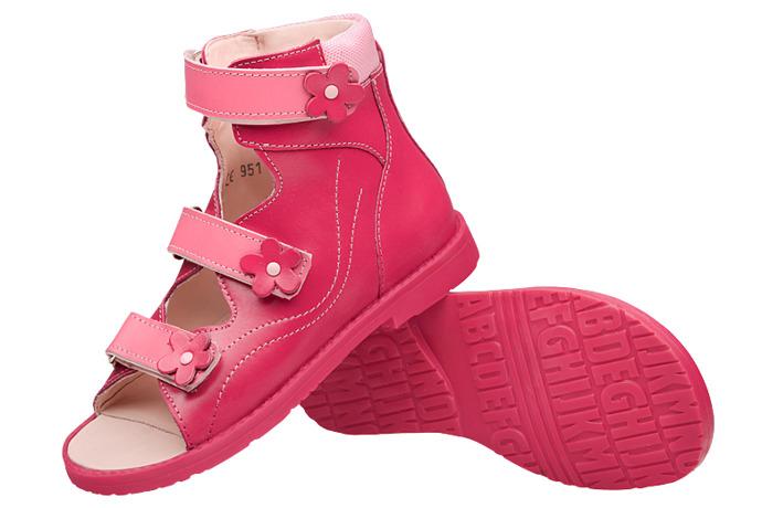 Trzewiki Profilaktyczne Ortopedyczne Buty DAWID 951 RC Różowe