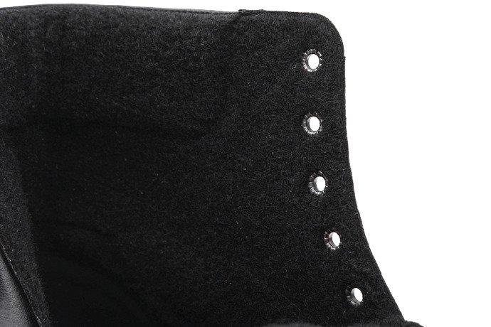 Trzewiki zimowe BADURA 4649-1224 Czarne ocieplane