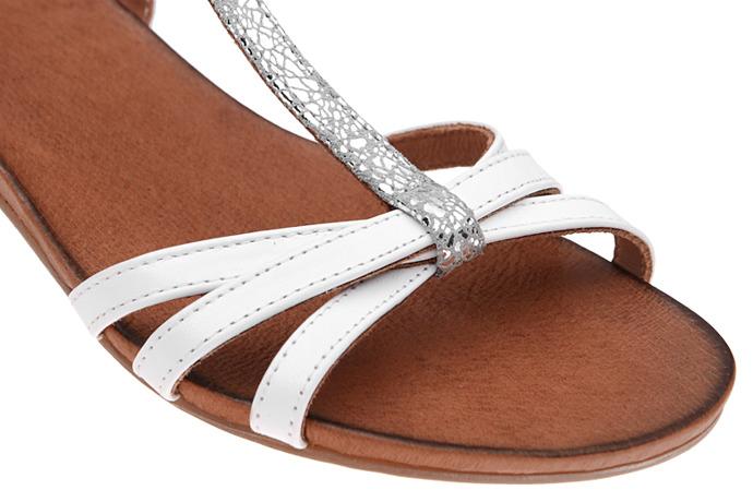 Włoskie sandały PIAZZA 910728-3 Białe