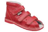 Kapcie profilaktyczne buty DANIELKI T105L T115L Czerwony Lico