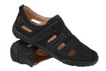 Półbuty Sandały KACPER 1-4208-519 Czarne
