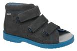 Sandałki Profilaktyczne Ortopedyczne Buty DAWID 1042 Szary+N SZN JP+N